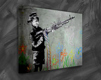 Boy with Gun Bansky Canvas Artworks