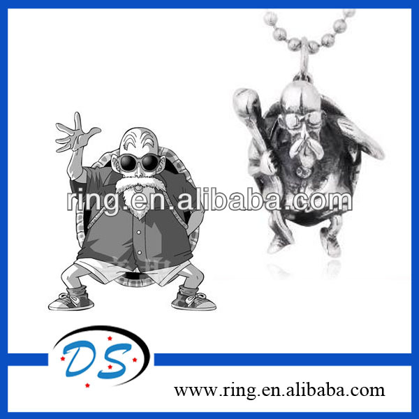 Hot Anime Dragonball Stainless Steel 3D Master Roshi Pendant Necklace