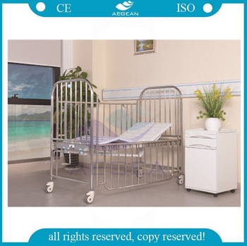 AG-CB014 stainless steel children medical beds with silent casters
