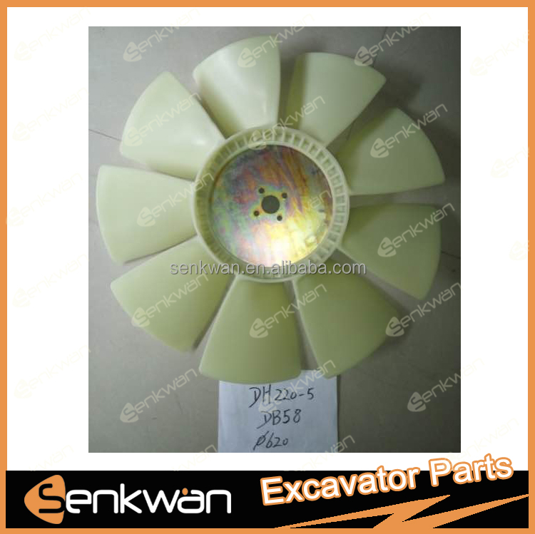 DB58 Diesel engine cooling fan blade for DH220-5 excavator.