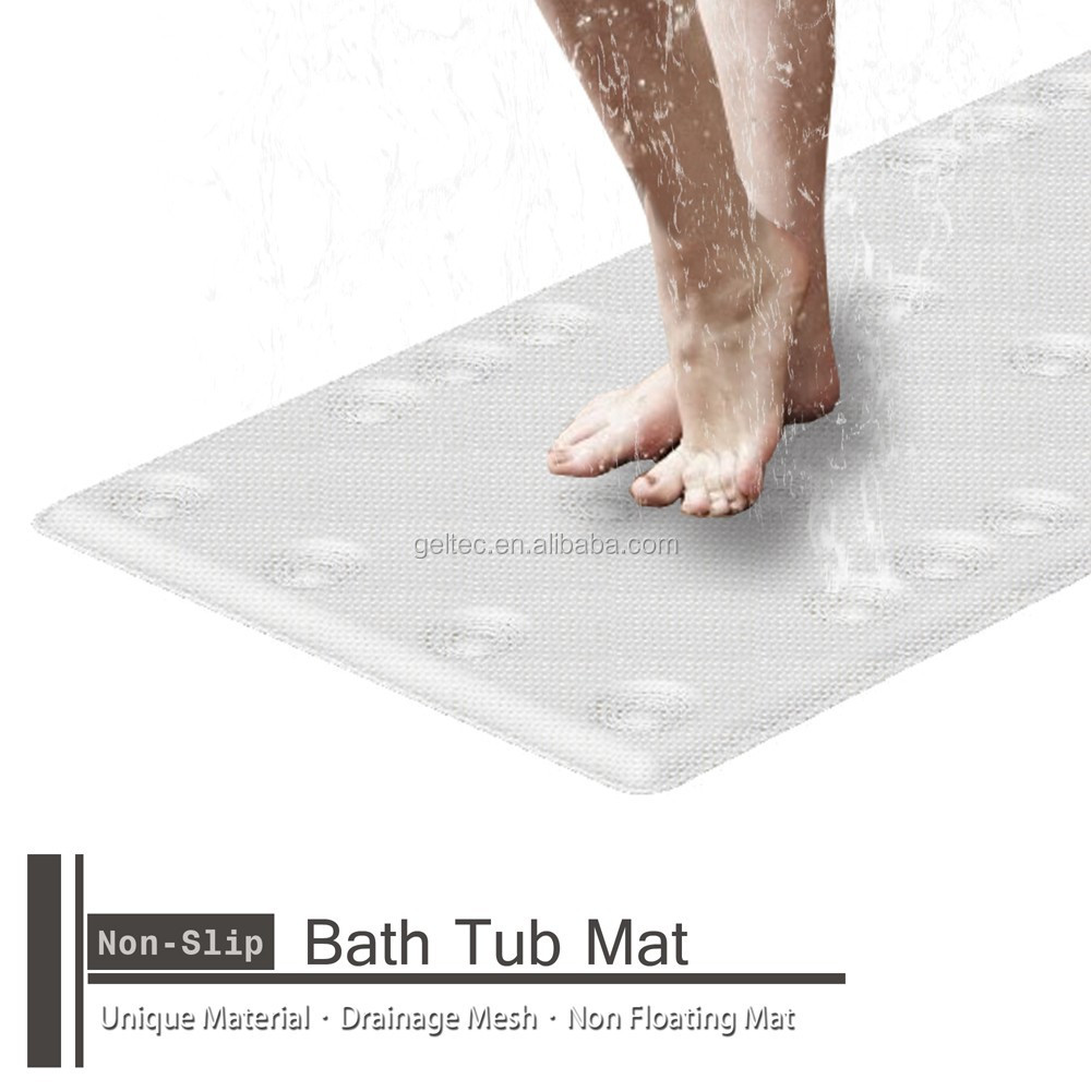 non slip grass loofah padded bath tub mat