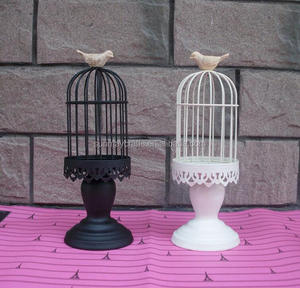 Bird Cage Outdoor hanging solar candle lantern