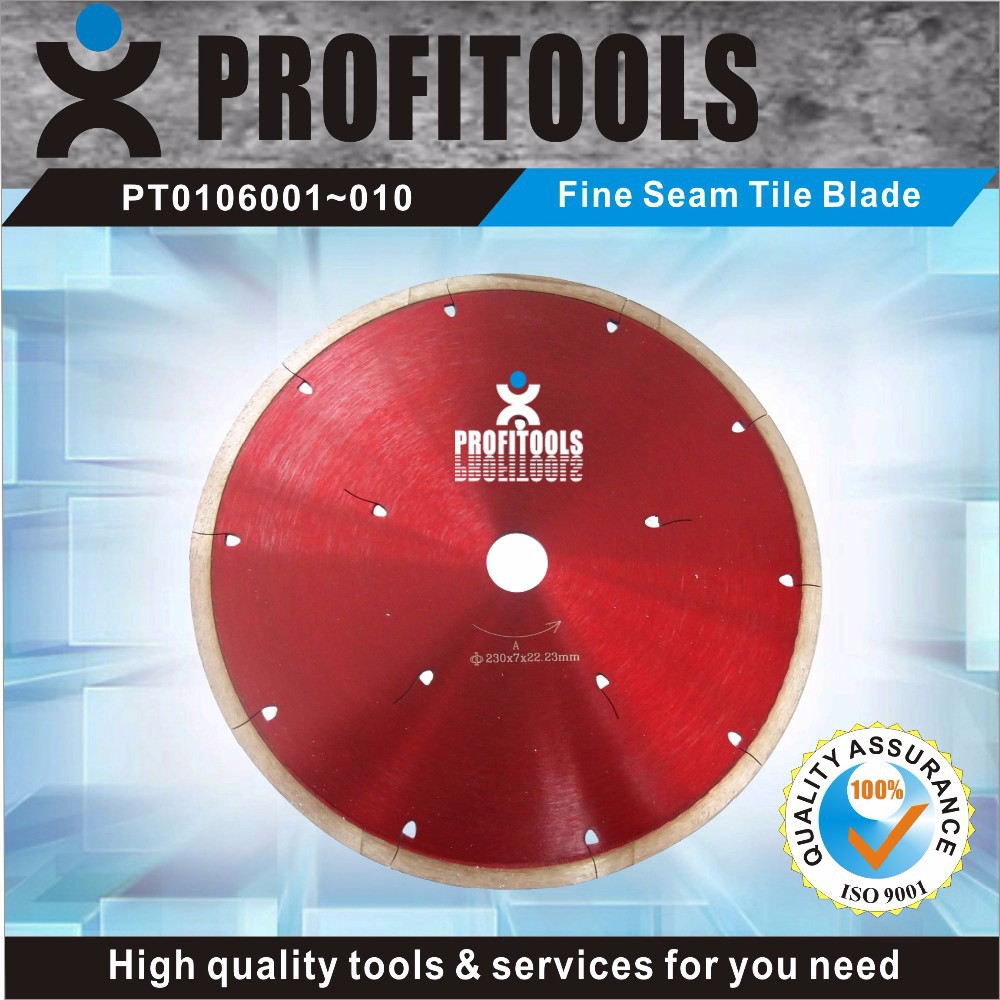 fine seam tile diamond saw blade for granite for wet cutting