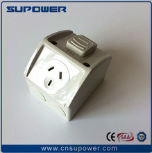 Australian Waterproof IP53 1 GANG 15 amp Switched Socket outlet Single Power Point