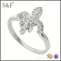 YIWU FACTORY!! Newest Style Crystal imitation diamond wedding ring sets