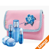 pink travel cosmetic bag case with printing