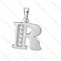 wholesale hot fashion alphabet letter pendant with bling bling diamonds