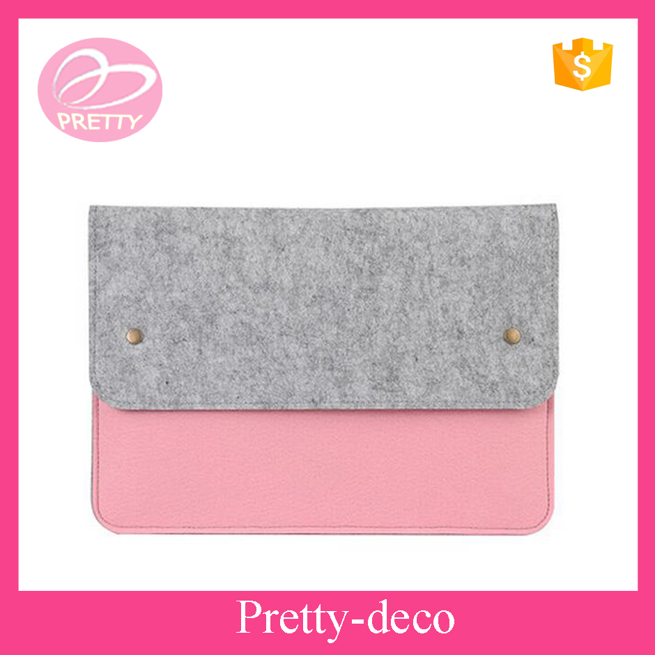Last Wholesale simple design cover felt bag tablet for laptop