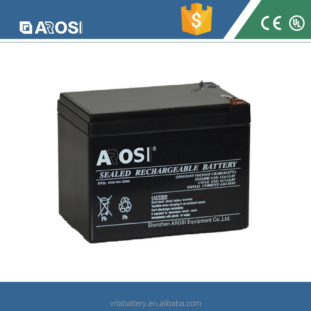 2015 Arosi 12v 3ah sealed lead acid agm battery with CE and Rohs , 12v battery