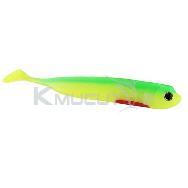 CHSOFT50 soft lure set arrow shad fish fishing lure with paddle fish in various colors