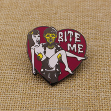Custom cheap different kinds of metal badge pin color filled lapel pins