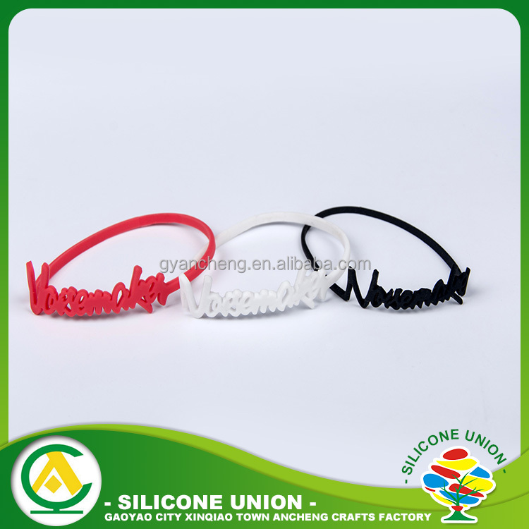 Production novelty party soft stretch thin silicone rubber band rope bracelet