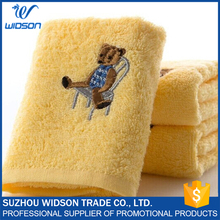 100% Cotton Towels, Cartoon Bear Small bath Embroidered Souvenir Towels