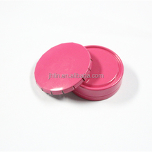 Pink small round metal tin box click clack candy tin