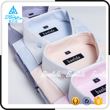 Mens new funky private label contrast color collar and cuff button down dress long shirts designs
