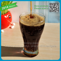 2014 nw style products 400ml cocacola glass cup delicious cocacola popular glass cup for promotion