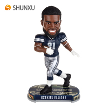 High Quality Resin Dallas Cowboys Ezekiel Elliott Bobblehead Collection Home Decoration Gift Event Souvenir