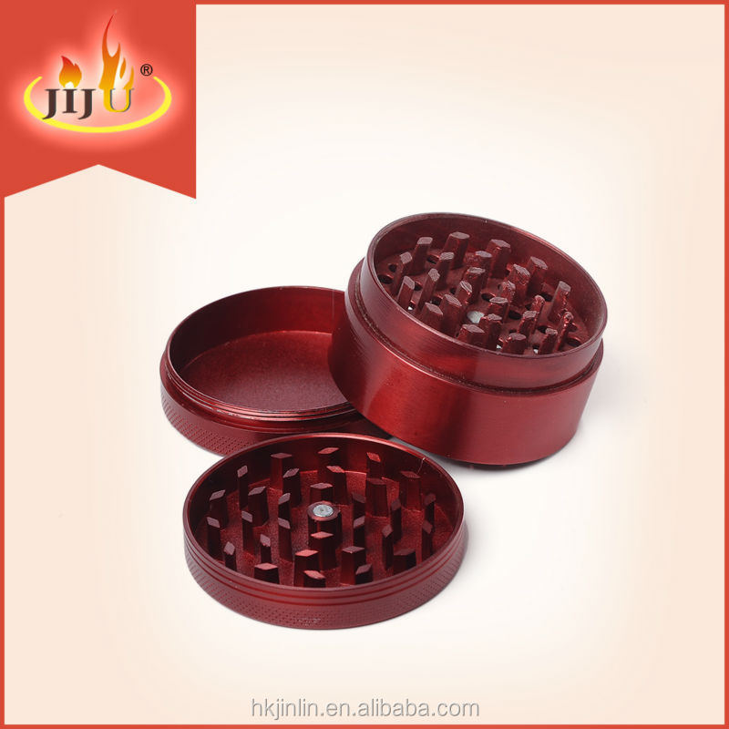 Best Selling 2017 JL-016JA 3 parts Herb Grinder For Smoking High Quality Zinc Spice Tobacco Grinder