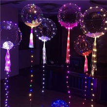 bobo ball led line string light balloon with colored light for Christmas Halloween Wedding Party children home Decor