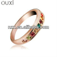 OUXI 2015 Spring fashion finger ring made with Austrian crystal jewerly