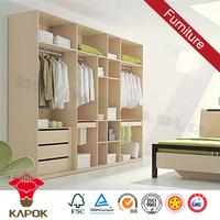 Bedroom furniture aluminum wardrobe pole system closets