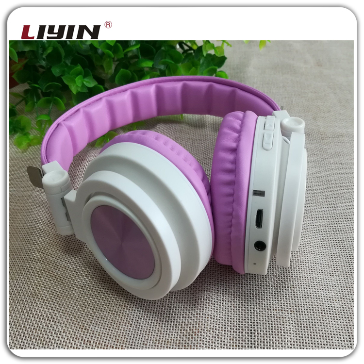 Promotional gift wired stereo headphone for girls,aviation headset for gift,V4.2 head set wireless