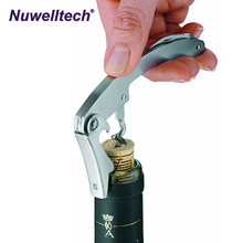 Stainless Steel Doubled Hinged Wine Bottle Opener All-in-one Waiters Corkscrew