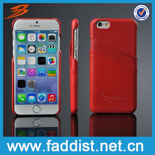 Hot selling for iphone 6 real leather case, Popular phone case for iphone 6, back cover for iphone 6