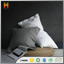 Wholesale custom printed design throw pure Linen Pillow Case for hotel or home