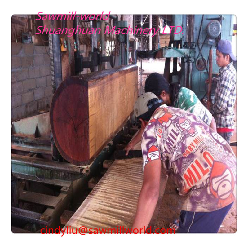 Vertical timber Sawing logs band sawmill With Carriage