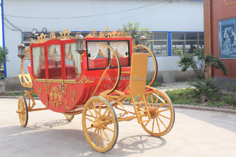 YZN royal carriage customized royal horse-drawn carriage/horse wagon for sale
