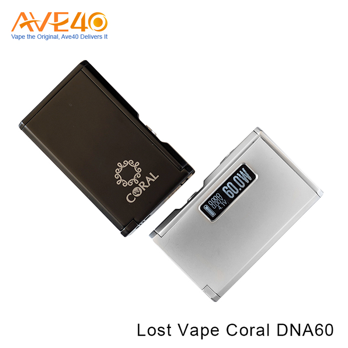 Bottom Feeder Mod Electronic Cigarette Squonk Box Mod Lost Vape Coral DNA60 60W Box Mod With 510 Connectors