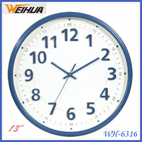 Cheap plastic wall clock for decorative