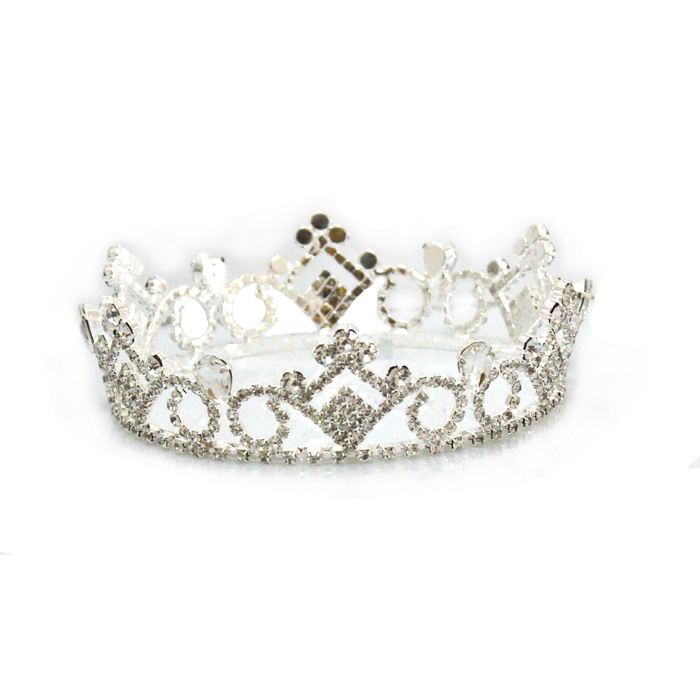 H172-145 Elegant Pageant Rhinestone Fashion Full Round Circle <strong>Crown</strong> for Brides