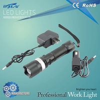 Good selling led non-slip tube body flashlight with car charger