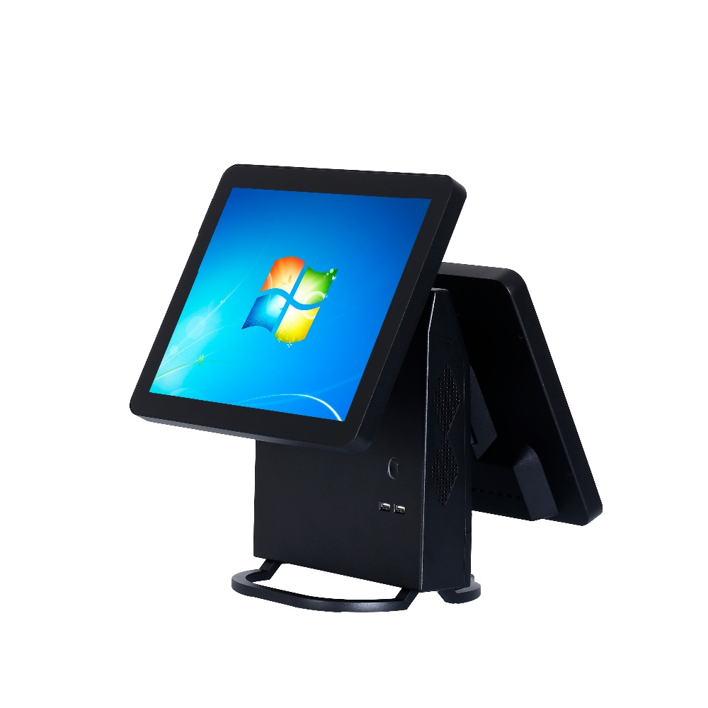 Dual screen 15 inch all in one touch screen pos terminal