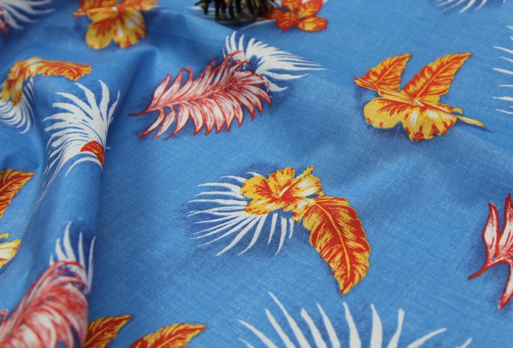 100% Stretch Printed cotton twill fabric for Garment