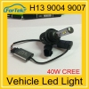 Credible supplier quick bright 40W cr*ee xhp50 led headlight led headlight bulb h13 9004 9007