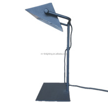 modern simply matt black metal table lamp, desk lamp led