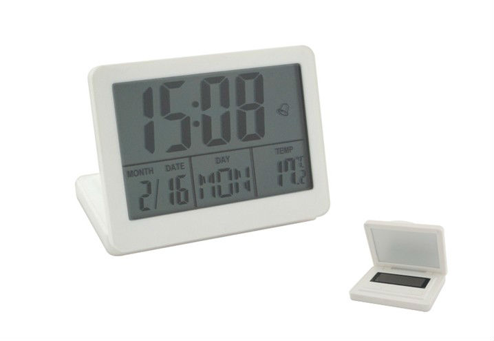 Solar power digital weather station clock