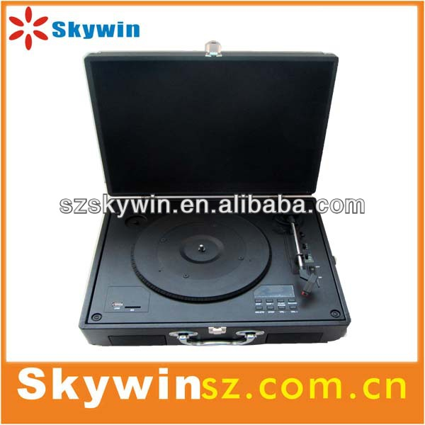 SW-204 Portable suitcase turntable player , ,bluetooth vinyl record player