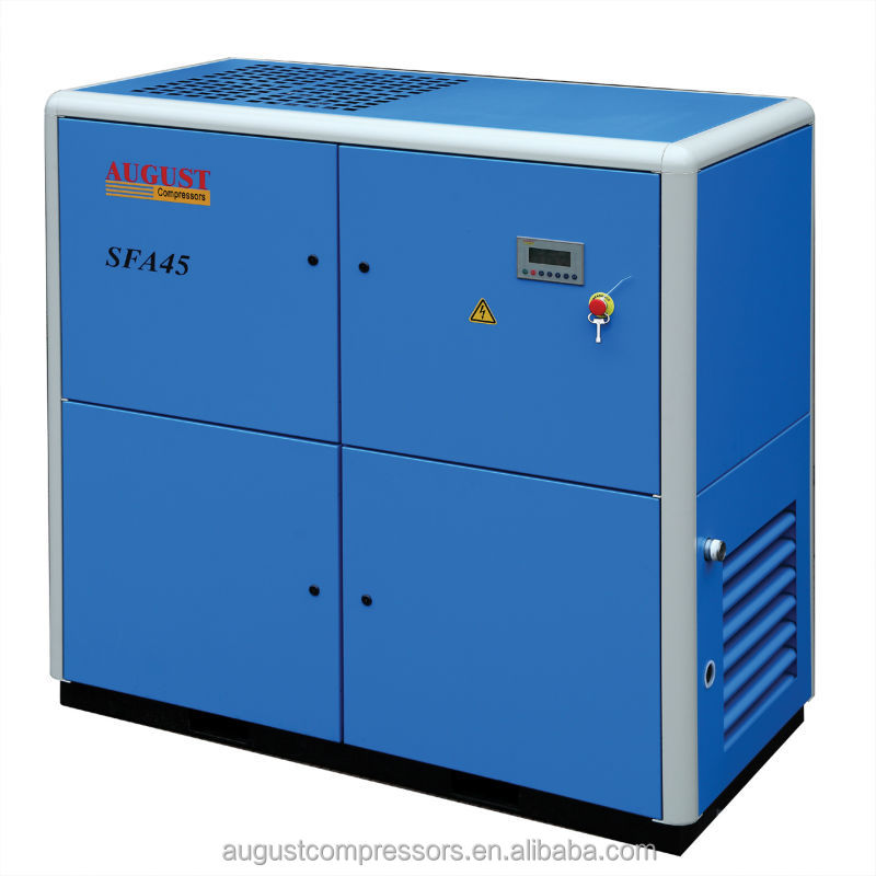 SFA45B 45KW/60HP 10 bar AUGUST stationary air cooled screw air compressor industrial air compressor prices