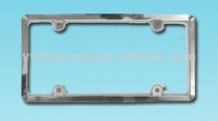 Acrylic Chrome ABS plastic License Plate Frame