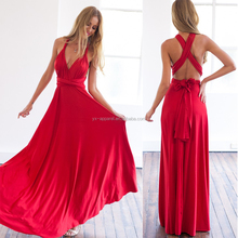 Sexy long convertible dress women multi-way red long dress for party gown