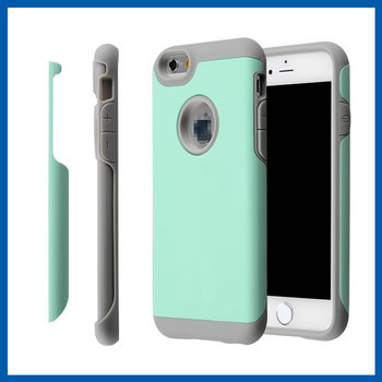 C&T Dual Layers High Impact Defender Combo Hard Soft Heavy Duty Shockproof Armor Case for iPhone6