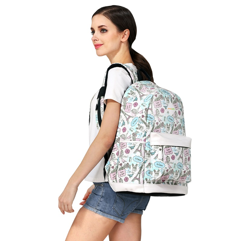New products 2017 back pack with usb charging port ergonomic school bag ladies bags