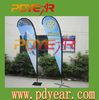 Factory teardrop banners spinning dart and display stand