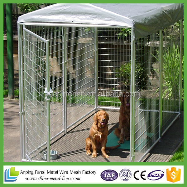 Factory outdoor durable large galvanized enclosure for dogs