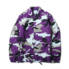 Wholesale <strong>Men</strong> Hip Hop Multi Color Camo Coaches <strong>Jacket</strong>