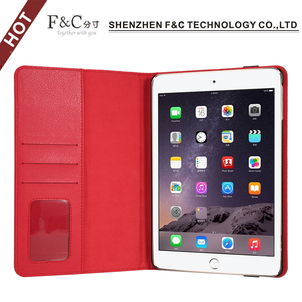 2016 Hot Selling Pu Leather Back Stand Tablet Cover Case For iPad Mini 4 Case,